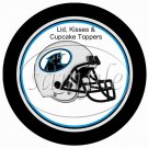 Carolina Panthers ~ (Faux) Cupcake Picks & Toppers
