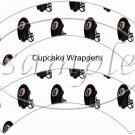 Baltimore Ravens ~ Faux NFL Cupcake Paper Wrappers ~ Set of 1 Dozen