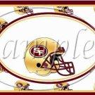 San Francisco 49ers ~ Faux NFL Football Teams ~  MINI Candy Bar Wrapper