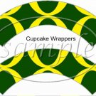 University of Oregon  #2 ~ Faux NFL Cupcake Paper Wrappers ~ Set of 1 Dozen