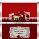Valentine Letters Standard Open End Candy Bar Wrapper