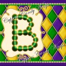 Mardi Gras Green Dot  Background MINI Candy Bar Alphabet Wrappers