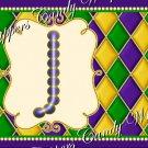 Mardi Gras Purple Dot  Background MINI Candy Bar Alphabet Wrappers