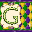 Mardi Gras Yellow Dot  Background MINI Candy Bar Alphabet Wrappers