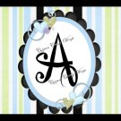 Pastel Jungle Blue  MINI Candy Bar Alphabet  & Numbers Wrappers