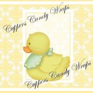 Yellow Baby Damask EXTRAS Set #2 ~ MINI Candy Bar Wrappers