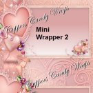 Floral Rose MINI Candy Bar Wrappers