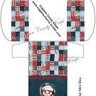 Raggedy Andy  ~  Hershey's Mini Candy Bar 4 Wrapper Box