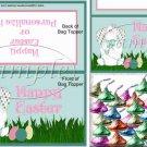 Easter  Bunny Plaid Ears ~ Easter ~ Bag Topper