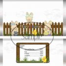 Easter Picket Fence ~ Candy Bar Wrapper