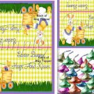 Bunny & Eggs ~ Easter ~ Bag Topper