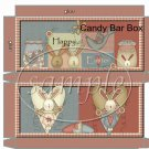 Country Bunny ~ Easter ~ Standard Size Candy Bar Box