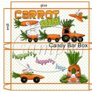 Carrot Patch  ~ Easter ~ Standard Size Candy Bar Box
