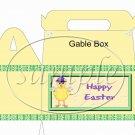 Easter Chick ~ Gable Box