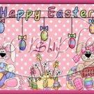 Flowered Bunny ~ Easter ~ Salt & Pepper Shaker Wrappers