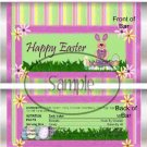 Fuzzy Bunny  ~  Easter ~ Standard Size Candy Bar