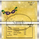 Madri Gras Mask Yellow ~ Standard Size Candy Bar