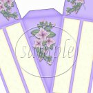 Purple with Flowers ~ Florals ~ Cake Slice Box