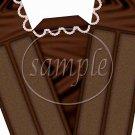 Chocolate Cake with Pearls ~ Cake Slice Box
