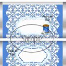 Sewing Thread Blue ~ Standard Size Candy Bar Wrapper