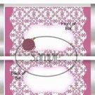 Knitting Yarn & Needles Pink ~ Standard Size Candy Bar Wrapper