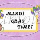 Mardi Gras Teddy ~ Pint Glass Jar Set