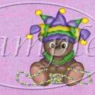 Mardi Gras Teddy   ~  MINI Candy Bar Wrapper