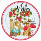 Flowered Mother's Day Cupcake Picks & Toppers