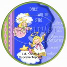 Live, Laugh, Dance Angels Cupcake or Food Picks & Toppers ~ 1 Dozen