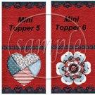 Raggedy Ann Set #3 Mini Mint Toppers & Mints   (50 ct)