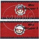 Raggedy Ann Set #1 ~ MINI Candy Bar Wrappers