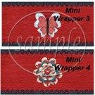 Raggedy Ann Set #2 ~ MINI Candy Bar Wrappers
