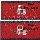 Raggedy Ann Set #3 ~ MINI Candy Bar Wrappers