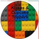 Faux Lego Legos #3 ~ Cupcake Picks & Toppers