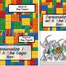 Faux Lego Legos #2   ~ Bag Topper