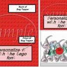 Faux Lego Legos #7   ~ Bag Topper