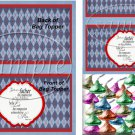 Father's Day Red Border Argyle  ~ Bag Topper