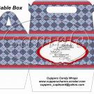 Father's Day Red Border Argyle ~ Gable Box