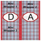 Father's Day Red Border Blue Plaid  ~  MINI Candy Bar Wrapper