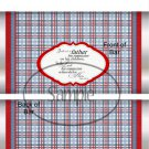 Father's Day Red Border Blue Plaid ~ Candy Bar Wrapper
