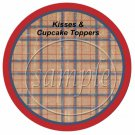 Father's Day Brown Plaid ~ Cupcake Picks & Toppers
