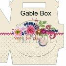 Happy Birthday Cream Floral  ~ Gable Box