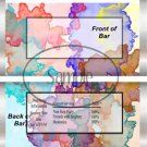 Water Colors ~ Candy Bar Wrapper