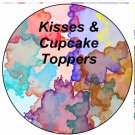 Water Color  ~ Cupcake & Food Picks & Toppers ~   Dozen