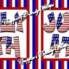 4th of July #1 ~ Food or Cupcake Picks & Toppers