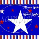 4th of July Stripes ~ Gallon Can Set