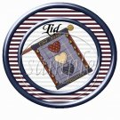 Blue Stars Statue of Liberty Bears ~ Cupcake Picks & Toppers