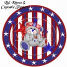 Red, White and Blue Bear  ~ Cupcake Picks & Toppers
