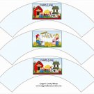 Country Livin'  ~  Cupcake Paper Wrappers ~ Set of 1 Dozen