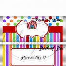 Carnival Tent #1  ~ Standard Size Candy Bar Wrapper